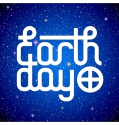 Earth day lettering vector