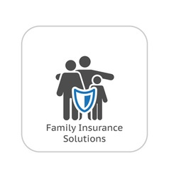 Family Insurance Solutions and Medical Services vector image vector image