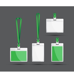 Green lanyards vector