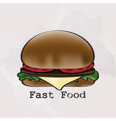 Hamburger in a watercolor style vector
