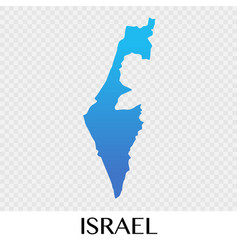 Israel map in asia continent design vector