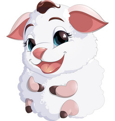 Lamb at the white background vector