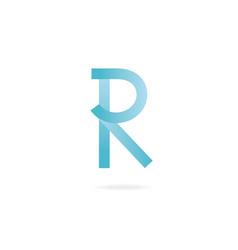 letter r logo design template elements vector image