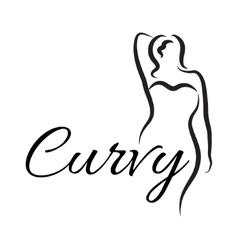 Logo plus size woman curvy woman symbol logo vector