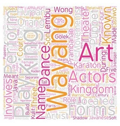 Malaysian theater arts text background wordcloud vector