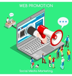 Marketing 01 Concept Isometric vector image vector image