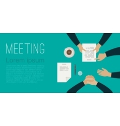 Meeting flat banner vector image