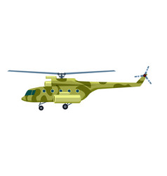 military helicopter isolated icon vector image vector image
