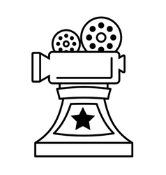 Movie cinema trophy awards outline vector