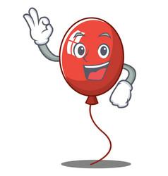 Okay balloon character cartoon style vector