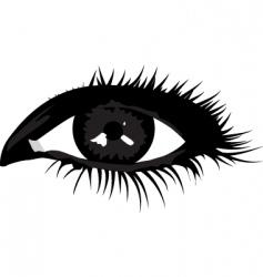 smoky eye vector image
