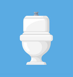 Toilet in a flat style vector