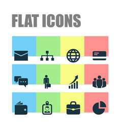Trade icons set collection of envelope group vector