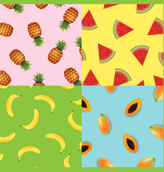 tropical background set vector image vector image