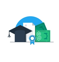 Tuition money finance education scholarship vector