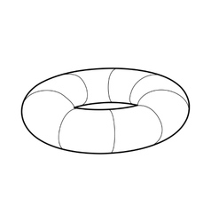 Lifebuoy icon in outline style vector