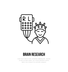 thin line icon brain research Hospital vector image