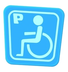 Invalid parking icon cartoon style vector