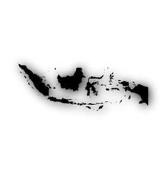 Map of indonesia with shadow vector