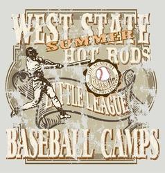 baseball eastern vector image