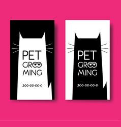 Logo for pet hair salon pet grooming salon vector
