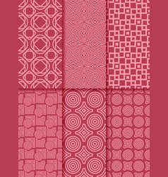 collection of red seamless patterns vector image