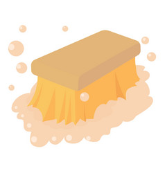 Wet cleaning icon cartoon style vector