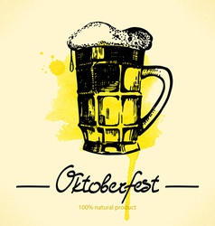 Oktoberfest hand drawn watercolor background vector