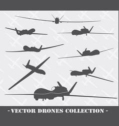 Weapon drones set vector