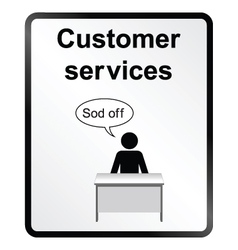 Customer Services Information Sign vector image