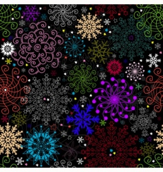 repeating dark  Christmas pattern vector image