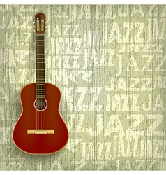 Abstract grunge jazz background with classical vector
