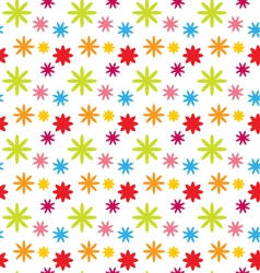 Seamless floral kid texture with colorful flowers vector