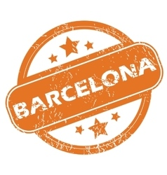Barcelona round stamp vector