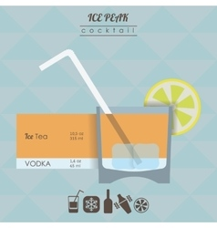 Ice peak cocktail flat style isometric vector