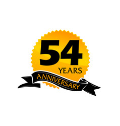 54 years ribbon anniversary vector image vector image