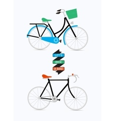 With graphic message and bicycles vector