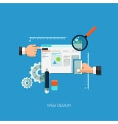 Flat concept for web design vector image