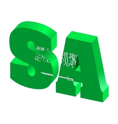 internet top-level domain of saudi arabia vector image