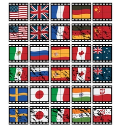Film strip flags vector