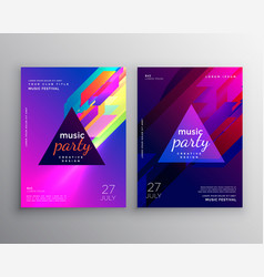 Abstract club music party flyer template design vector