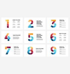 alphabet infographic presentation slide vector image