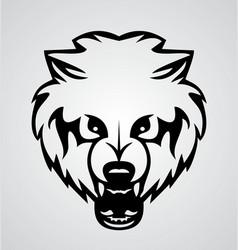 Bear Face Tribal vector image vector image