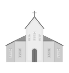 Church icon in monochrome style isolated on white vector