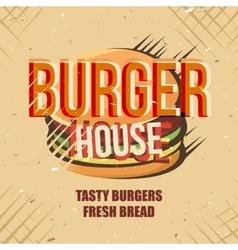 Creative logo design with burger vector image