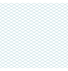 Cyan colour isometric grid seamless pattern vector