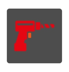 Drill Rounded Square Button vector image