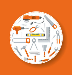 Equipment tool and mechanic repair service vector
