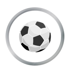 Football icon cartoon single sport icon from the vector