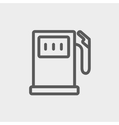 Gasoline pump thin line icon vector